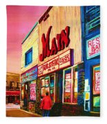 Main Steakhouse Blvd.st.laurent Fleece Blanket