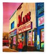 Main Steakhouse Blvd.st.laurent Fleece Blanket