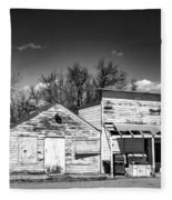 Main Street In Fort Shaw, Montana Fleece Blanket