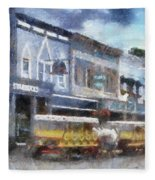 Main Street Mackinac Island Michigan Pa 04 Fleece Blanket