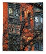 Main Street Middletown On A Sunny Spring Day Fleece Blanket