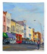 Main Street Nayck  Ny  Fleece Blanket