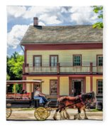 Main Street Of A Bygone Era At Old World Wisconsin Fleece Blanket
