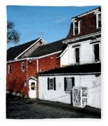 Maine Blue Hill Alleyway Fleece Blanket