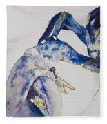 Maine Blue Lobster Fleece Blanket