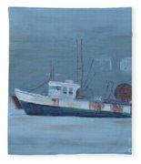 Maine Boat 2 Fleece Blanket