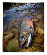Maine Brookie Fleece Blanket