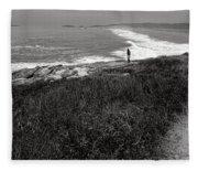 Maine Contemplation Fleece Blanket