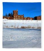 Maine Criminal Justice Academy In Winter Fleece Blanket