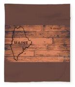 Maine Map Brand Fleece Blanket