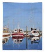 Maine Marina Evening Fleece Blanket