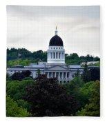 Maine State House Fleece Blanket