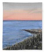 Maine Sunset Fleece Blanket