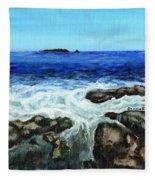 Maine Tidal Pool Fleece Blanket
