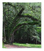 Majestic Fern Covered Oak Fleece Blanket