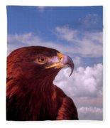 Majestic Golden Eagle Fleece Blanket