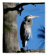 Majestic Great Blue Heron Fleece Blanket