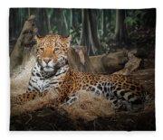 Majestic Leopard Fleece Blanket