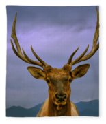 Majestic Elk Fleece Blanket