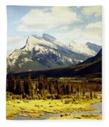 Majestic Mount Rundle Fleece Blanket
