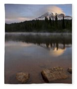 Majestic  Rainier Dawn Fleece Blanket