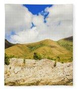 Majestic Rugged Australia Landscape  Fleece Blanket