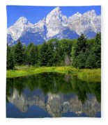 Majestic Tetons Fleece Blanket