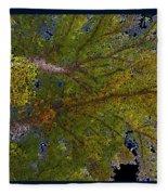 Majestic Trees Abstract Poster 2 Fleece Blanket