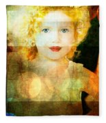 Golden Curls Fleece Blanket