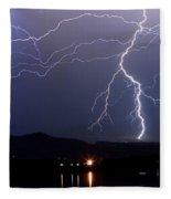 Major Foothills Lightning Strikes Fleece Blanket