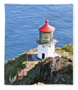 Makapuu Lighthouse 1065 Fleece Blanket