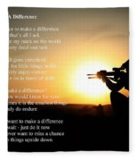 Make A Difference Fleece Blanket