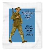 Make The Regular Army Your Career Fleece Blanket