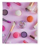 Make Up And Sweets Fleece Blanket