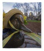 Make Way For Ducklings B.a.a. 5k Spring Bonnet Fleece Blanket
