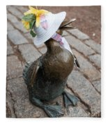 Make Way For Ducklings Fleece Blanket