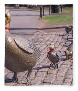 Make Way For The Ducklings Fleece Blanket