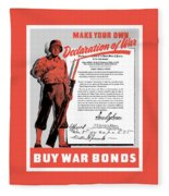 Make Your Own Declaration Of War Fleece Blanket
