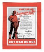 Make Your Own Declaration Of War Fleece Blanket