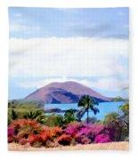 Makena Maui Fleece Blanket
