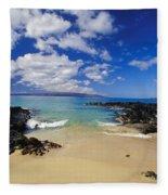 Makena, Secret Beach Fleece Blanket