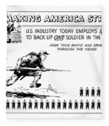 Making America Strong Cartoon Fleece Blanket