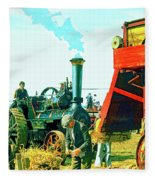 Making Hay Fleece Blanket