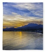Makrygialos Sunset Fleece Blanket