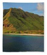 Makua, Oahu Fleece Blanket