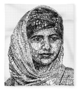 Malala Yousafzai Fleece Blanket