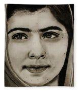 Malala Yousafzai- Teen Hero Fleece Blanket