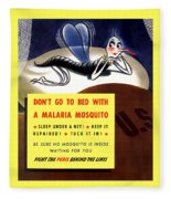 Malaria Mosquito Fleece Blanket