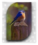 Male Bluebird Fleece Blanket