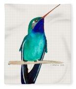Male Broad-billed Hummingbird Fleece Blanket